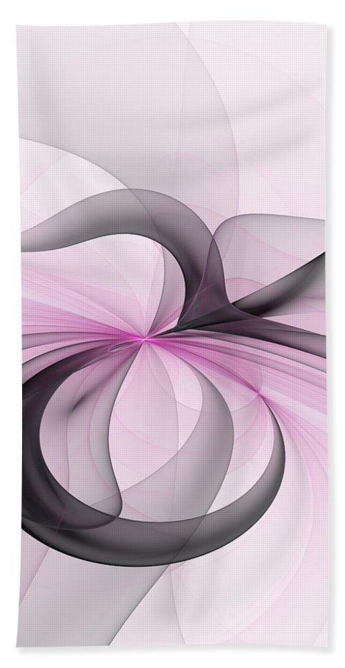 Digital Art Bath Towel featuring the digital art Abstract Art Fractal With Pink by Gabiw Art