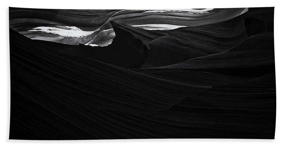 Abstract Bath Sheet featuring the photograph Abstract Canyon by Ingrid Smith-Johnsen