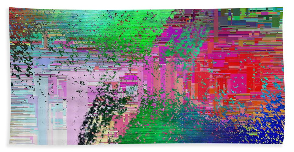 Abstract Bath Sheet featuring the digital art Abstract Cubed 1 by Tim Allen