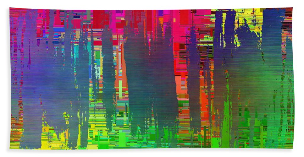 Abstract Hand Towel featuring the digital art Abstract Cubed 113 by Tim Allen