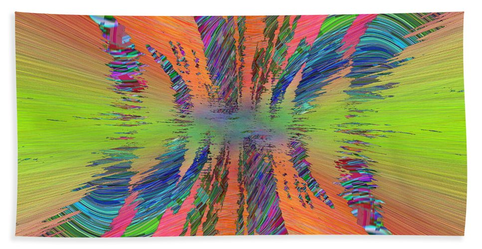 Abstract Bath Towel featuring the digital art Abstract Cubed 168 by Tim Allen