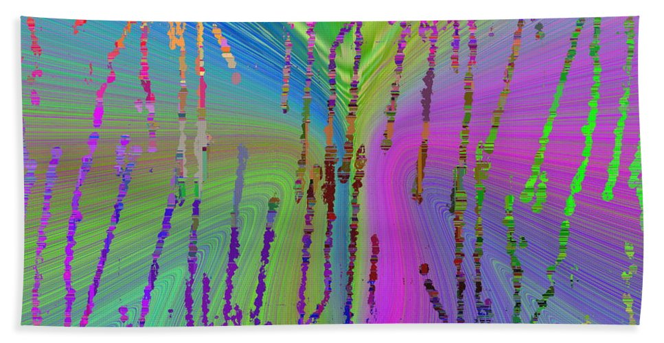 Abstract Bath Sheet featuring the digital art Abstract Cubed 63 by Tim Allen