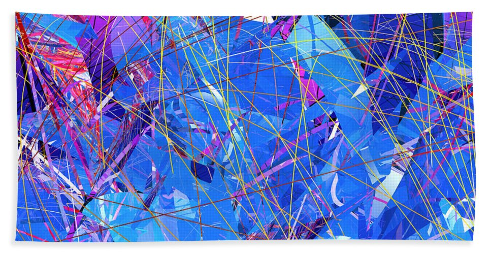 Abstract Bath Sheet featuring the digital art Abstract Curvy 30 by Russell Kightley
