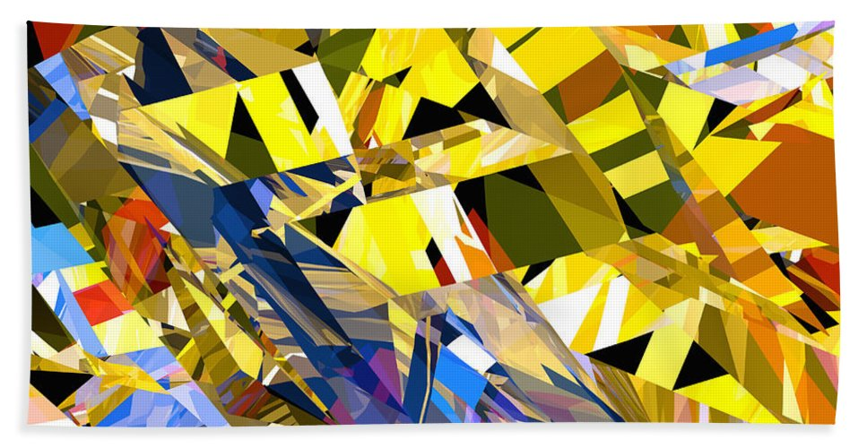 Abstract Bath Sheet featuring the digital art Abstract Curvy 34 by Russell Kightley