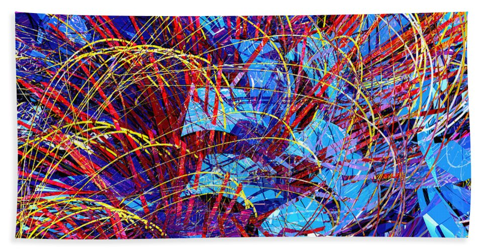 Abstract Bath Sheet featuring the digital art Abstract Curvy 36 by Russell Kightley