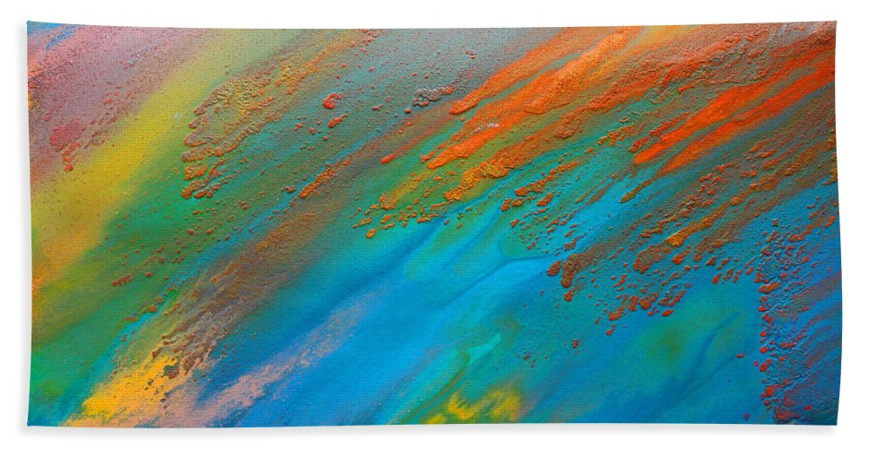 Abstract Bath Sheet featuring the photograph Abstract Dreams Come True by Julia Fine Art And Photography