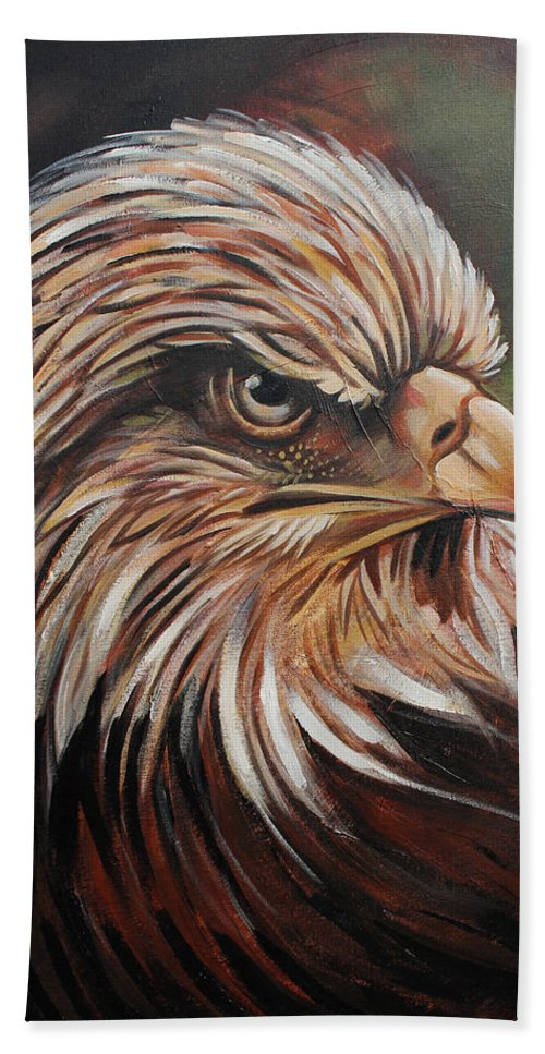Eagle Hand Towel featuring the painting Abstract Eagle Painting by Sarat kumar Moharana