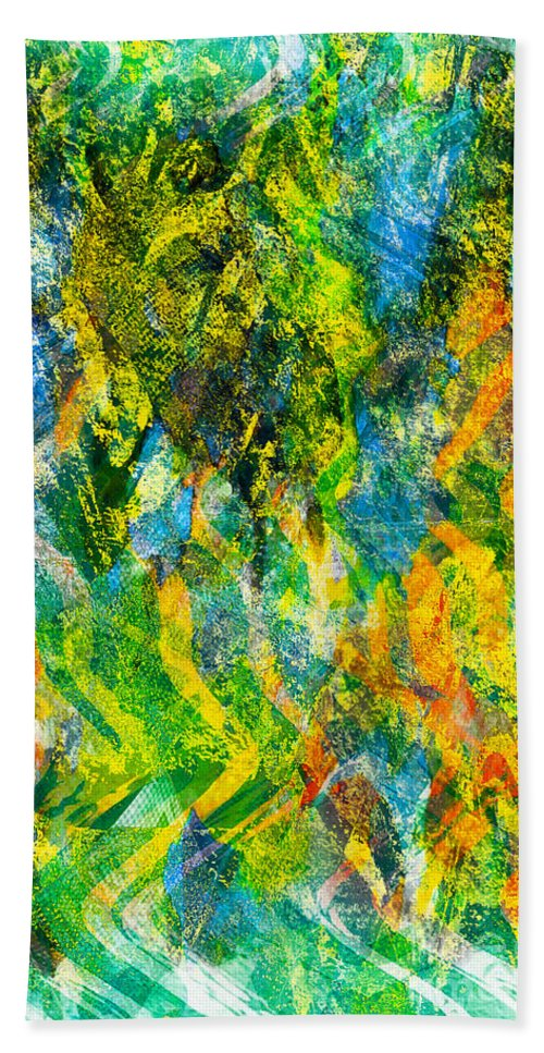 Praising Emotion Bath Sheet featuring the digital art Abstract - Emotion - Admiration by Barbara Griffin
