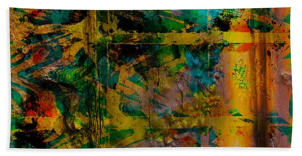 Front Hand Towel featuring the digital art Abstract - Emotion - Facade by Barbara Griffin