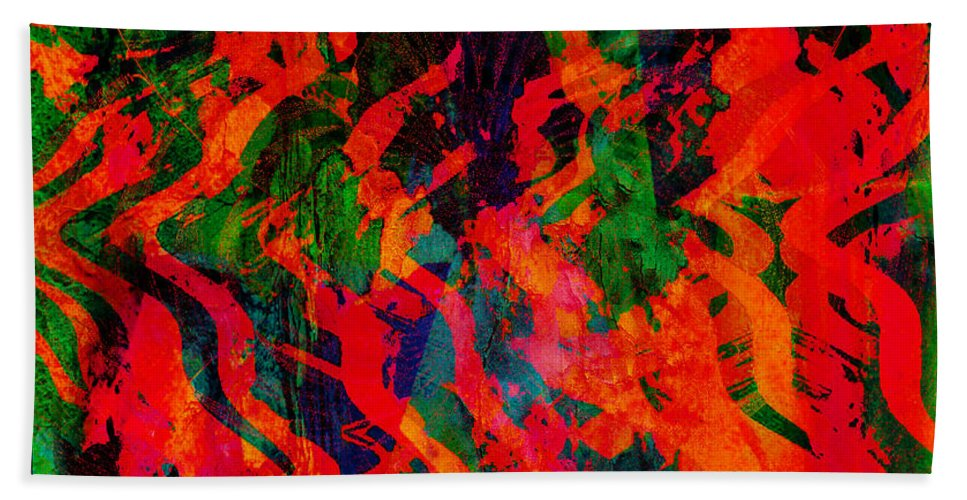 Rage Bath Sheet featuring the digital art Abstract - Emotion - Rage by Barbara Griffin
