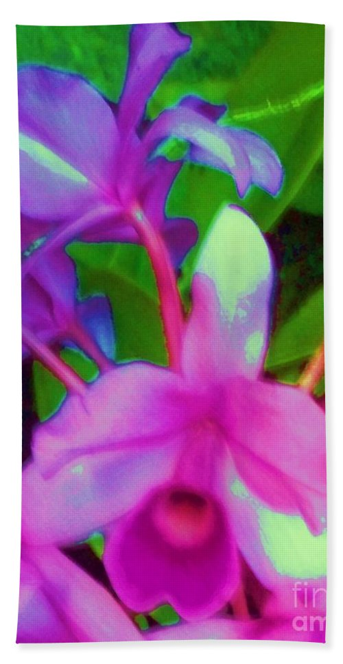 Abstract Hand Towel featuring the photograph Abstract Flowers by Eric Schiabor