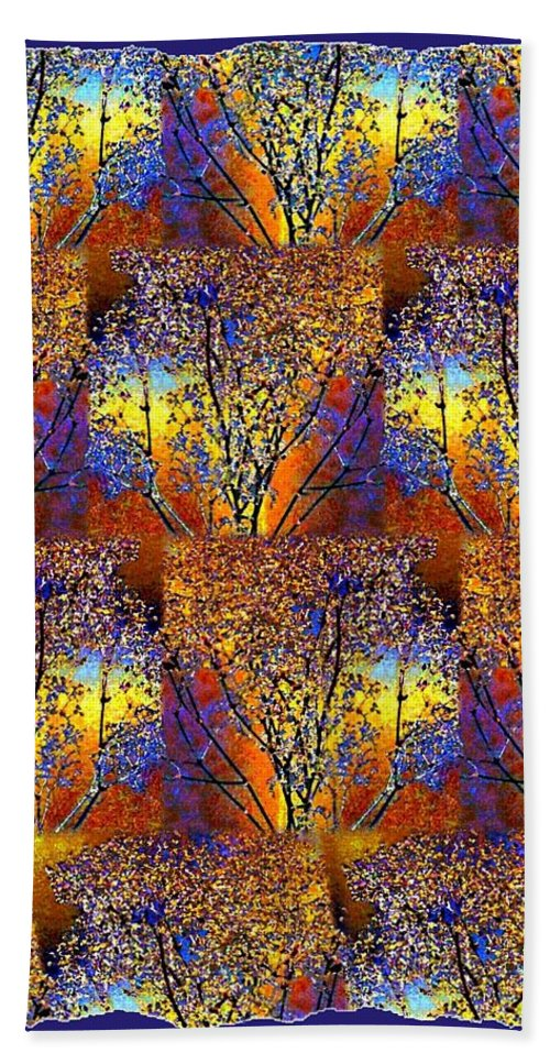 Abstract Fusion Bath Sheet featuring the digital art Abstract Fusion 142 by Will Borden