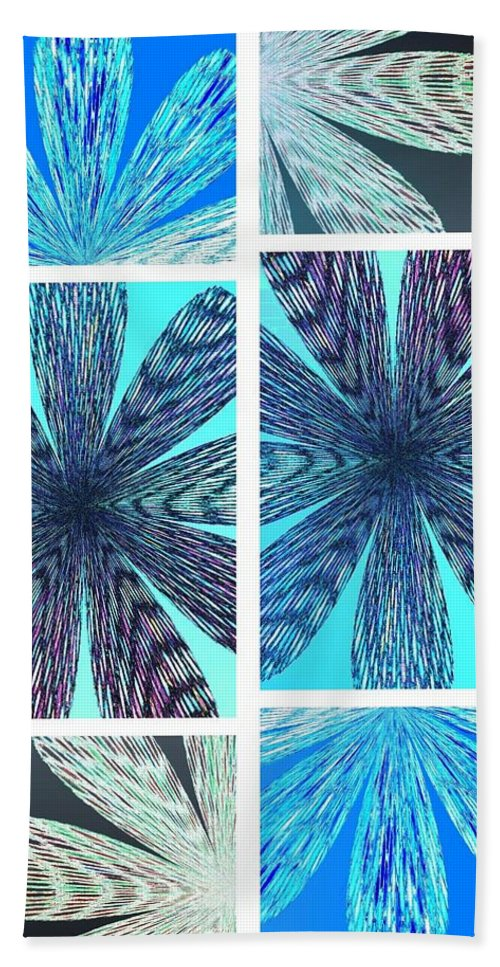 Abstract Fusion Hand Towel featuring the digital art Abstract Fusion 170 by Will Borden