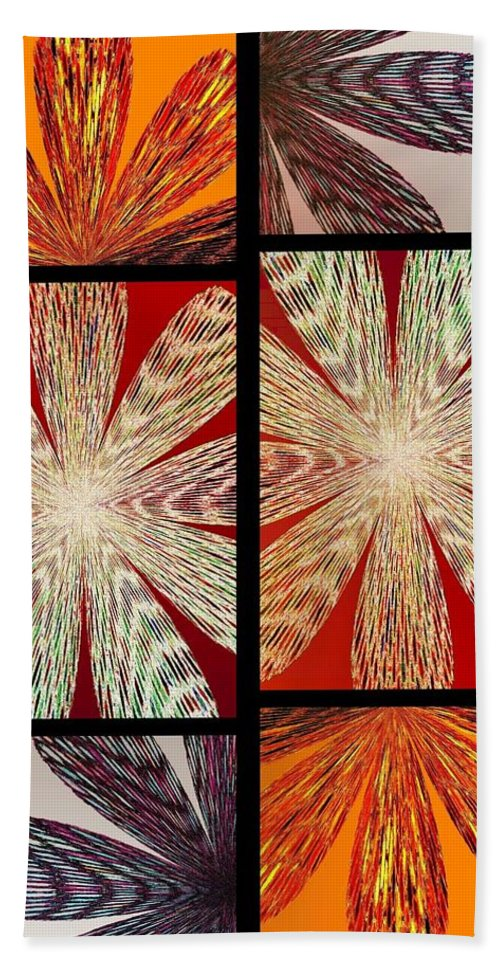 Abstract Fusion Hand Towel featuring the digital art Abstract Fusion 171 by Will Borden