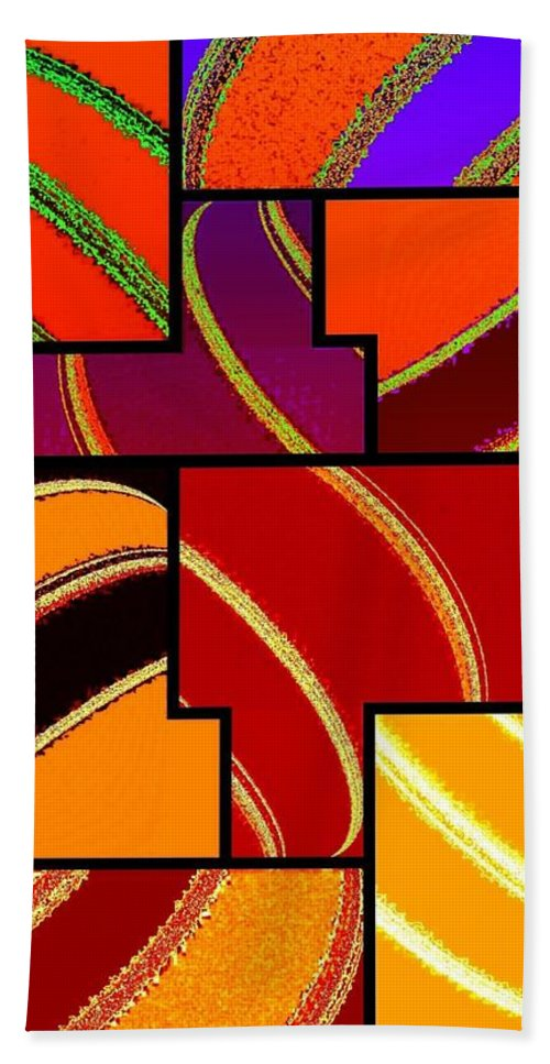 Abstract Fusion 232 Bath Sheet featuring the digital art Abstract Fusion 232 by Will Borden