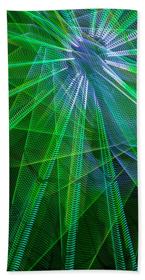 Light Abstract Bath Sheet featuring the photograph Abstract Green Lights by Garry Gay