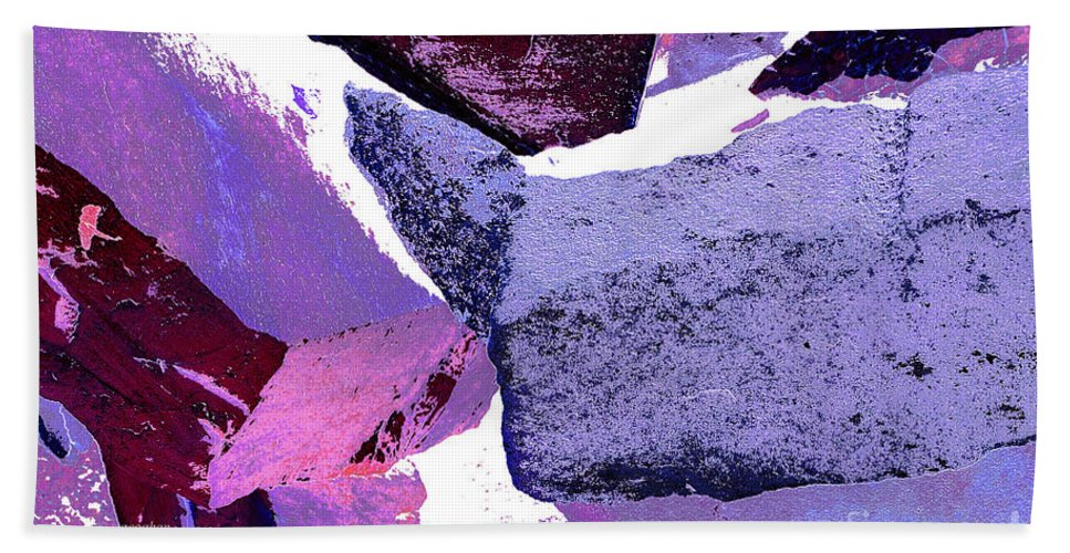 Abstract Art Bath Sheet featuring the photograph Abstract In Purple by Regina Geoghan