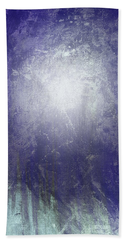 Abstract Hand Towel featuring the painting Abstract Moonlight by Filippo B