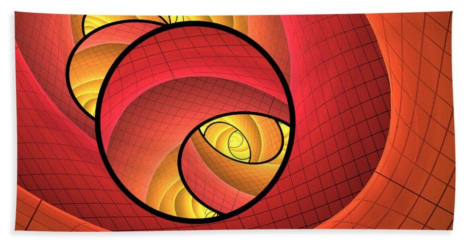 Digital Art Bath Sheet featuring the digital art Abstract Network by Gabiw Art