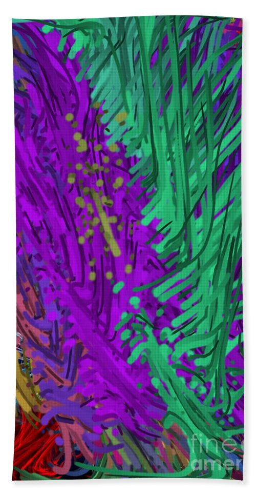 Art Hand Towel featuring the digital art Abstract by One Ironaut