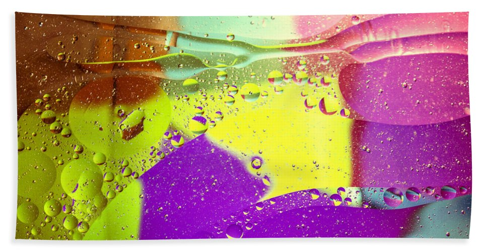 Abstract Hand Towel featuring the photograph Abstract Pink by Spikey Mouse Photography