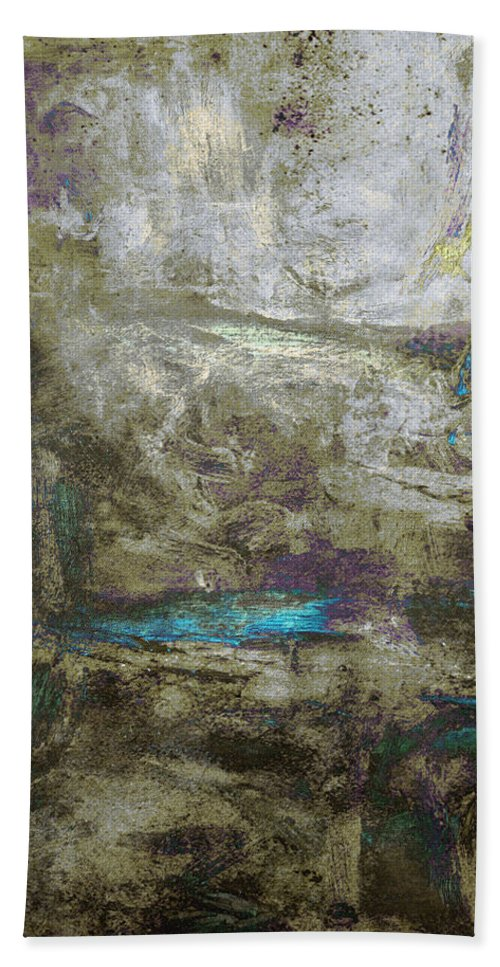 Abstract Hand Towel featuring the painting Abstract Print 13 by Filippo B