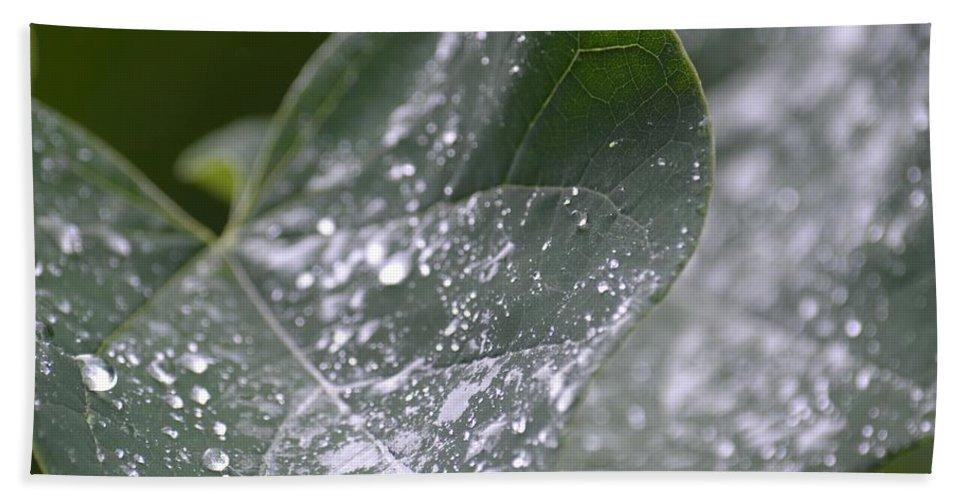Abstract Rain Glitter Bath Sheet featuring the photograph Abstract Rain Glitter by Maria Urso