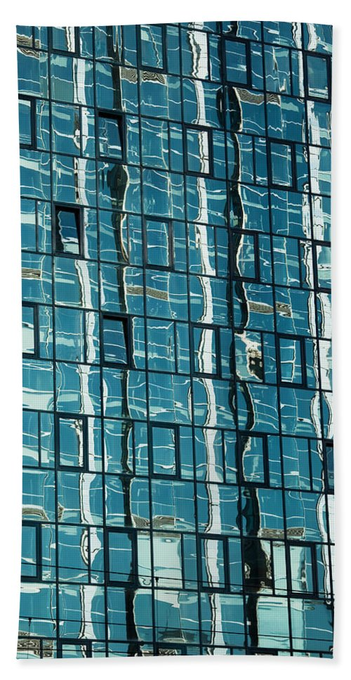 Building Bath Sheet featuring the photograph Abstract Reflections In Windows by Artur Bogacki