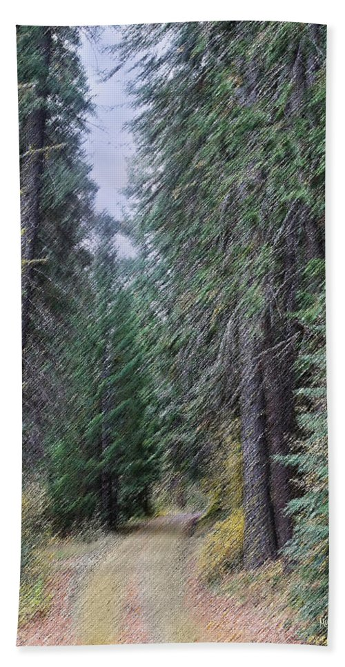 Abstract Hand Towel featuring the photograph Abstract Road In The Wilderness by Mick Anderson