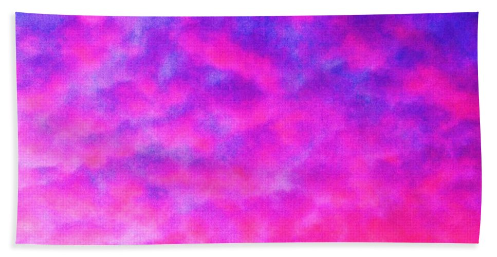 Abstract Hand Towel featuring the photograph Abstract Sky by Eric Schiabor