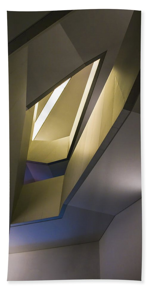 Abstract Hand Towel featuring the photograph Abstract Stairwell by Ross G Strachan