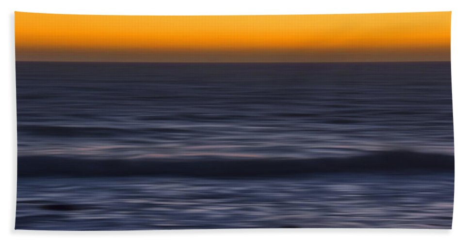Sunset Bath Sheet featuring the photograph Pacific Abstract Sunset by Erika Fawcett