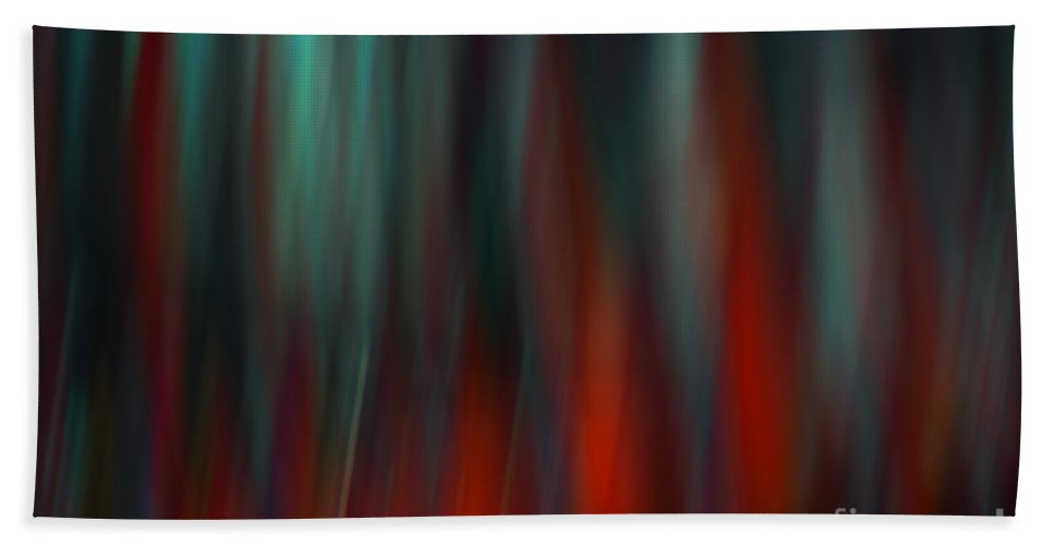 Vertical Bath Sheet featuring the photograph Abstract Vertical Red Green Blur by Marvin Spates