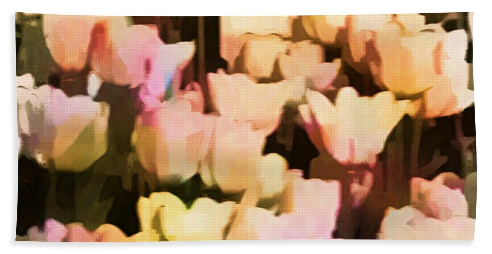 Tulips Hand Towel featuring the photograph Abstracted Tulips by Alice Gipson