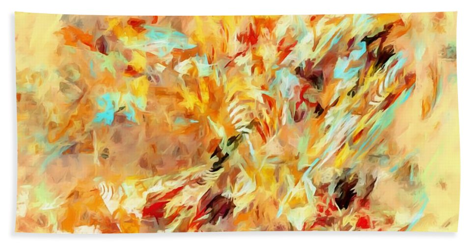 Graphics Hand Towel featuring the digital art Abstraction 0263 Marucii by Marek Lutek