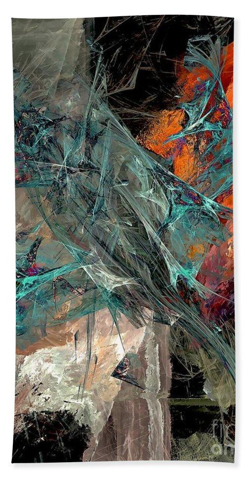 Graphics Hand Towel featuring the digital art Abstraction 0490 Marucii by Marek Lutek