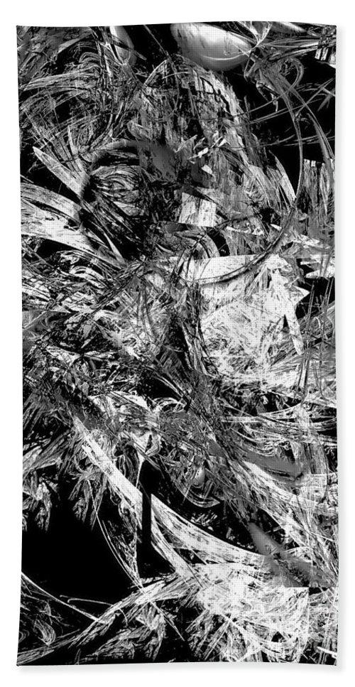 Graphics Hand Towel featuring the digital art Abstraction 0495 - Marucii by Marek Lutek