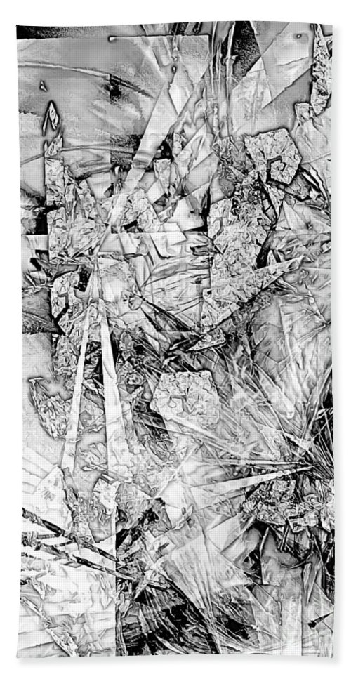 Graphics Hand Towel featuring the digital art Abstraction 0521 - Marucii by Marek Lutek