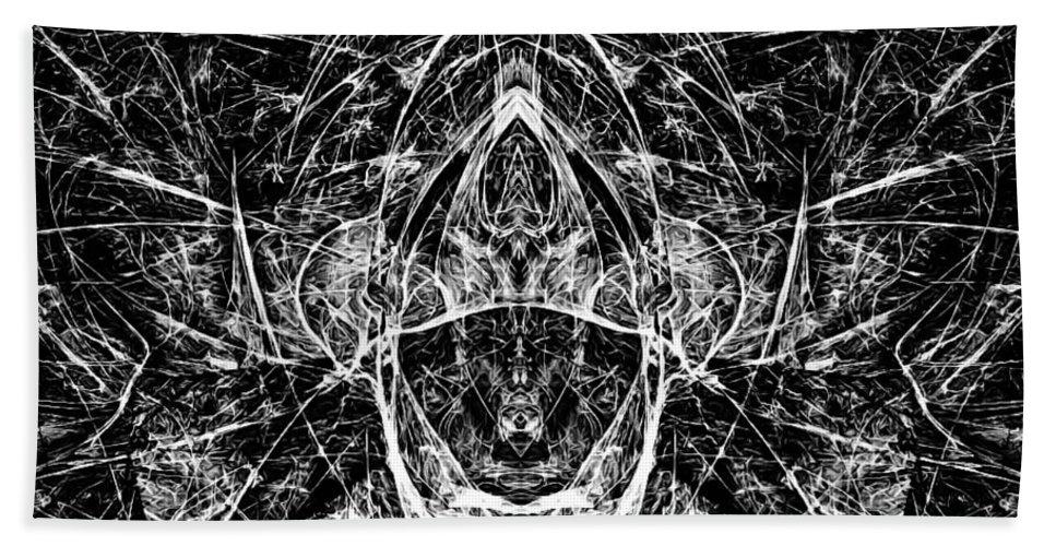 Graphics Hand Towel featuring the digital art Abstraction 0542 Marucii by Marek Lutek