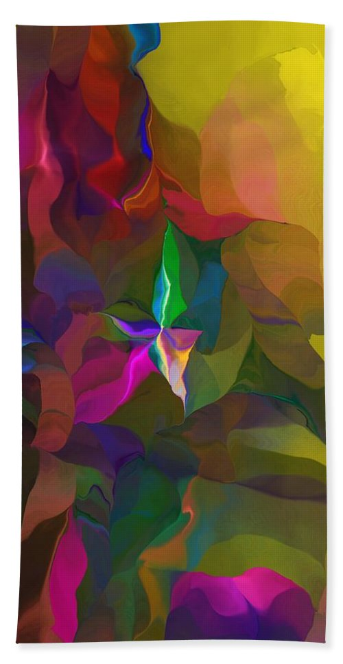 Fine Art Hand Towel featuring the digital art Abstraction 111212 by David Lane