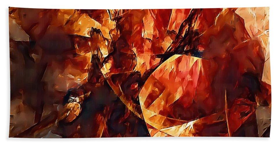Graphics Hand Towel featuring the digital art Abstraction 272 - Marucii by Marek Lutek