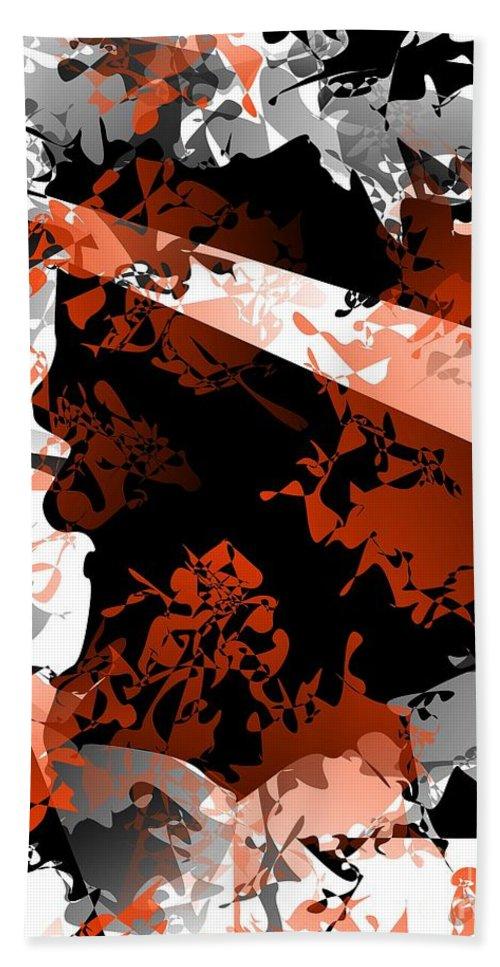 Abstraction Bath Sheet featuring the digital art Abstraction 40-13 - Marucii by Marek Lutek