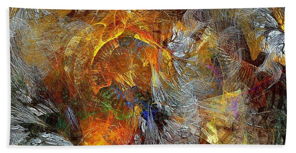 Abstract Bath Sheet featuring the digital art Abstraction 435-08-13 Marucii by Marek Lutek