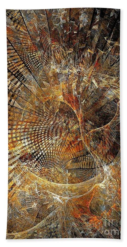 Abstract Bath Sheet featuring the digital art Abstraction 473-09-13 Marucii by Marek Lutek