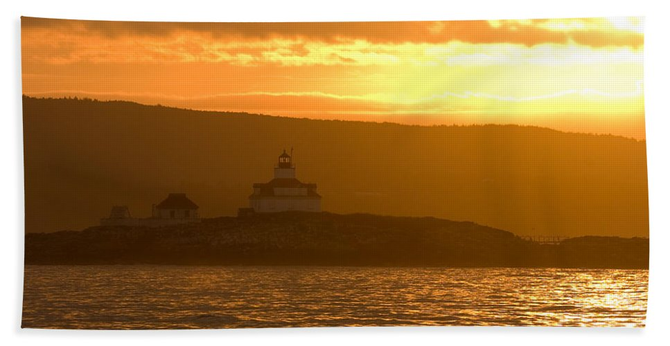 Acadia National Park Hand Towel featuring the photograph Acadia Lighthouse by Sebastian Musial