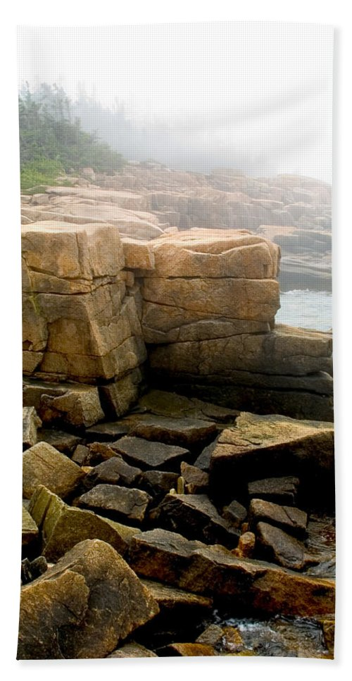 Landscape Hand Towel featuring the photograph Acadia Morning 7647 by Brent L Ander