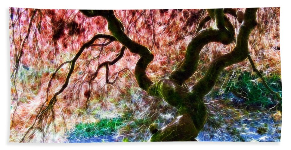 Acer Tree Bath Sheet featuring the photograph Acer Abstract by Susie Peek
