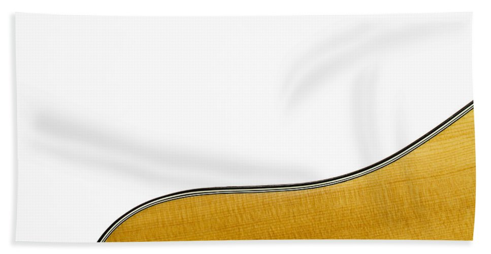 Guitar Hand Towel featuring the photograph Acoustic Curve by Bob Orsillo