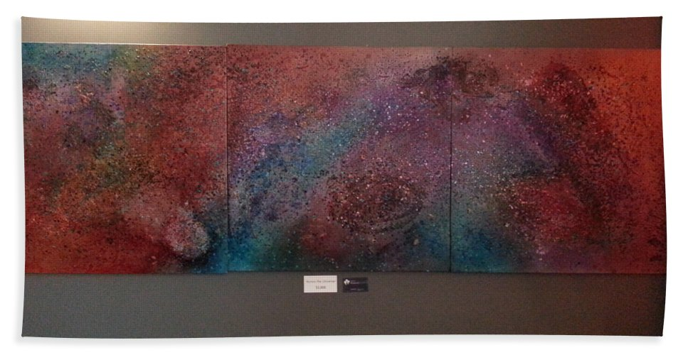 Universe Hand Towel featuring the painting Across The Universe by Angelina Vick
