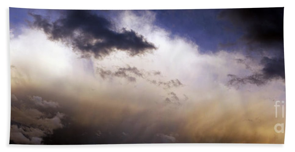 Clouds Bath Sheet featuring the photograph Active Sky by Living the Dream
